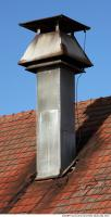 photo texture of metal chimney