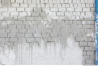 Photo Texture of Wall Bricks Plastered