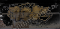 photo texture of grafitti decal 0001