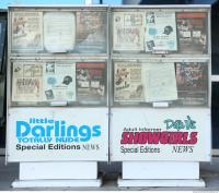 photo texture of newspaper vending machine 0002