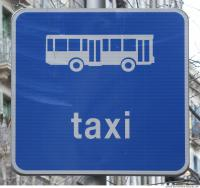 bus taxi traffic sign