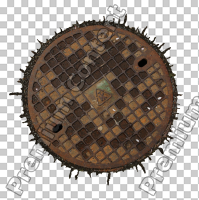 decal manhole cover 0001