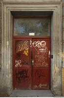 doors metal double old tagged