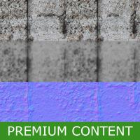 Seamless Textures of Concrete + Normal & Bump Mapping