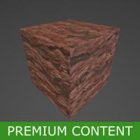 PBR Substance Material of Red Rock