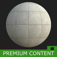PBR Substance Material of Concrete Slabs